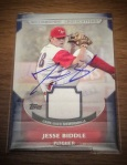 Signed Jesse Biddle 2011 Topps Pro Debut Minor League Materials baseball card from my collection