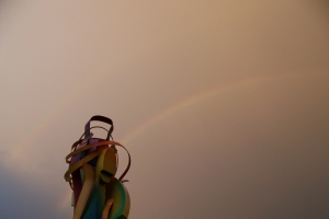 Rainbow over Trenton Transit Center (Photo credit: Paul Hadsall)