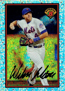 Wilmer Flores 1989 Bowman Is Back 2014 Bowman insert card