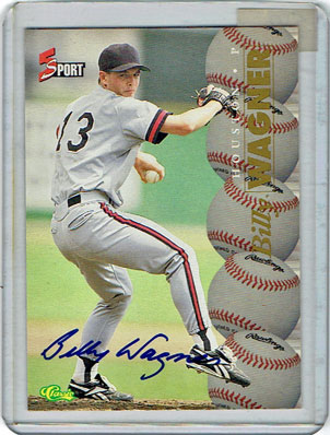 1995 Classic 5-Sport Billy Wagner Autographed baseball card
