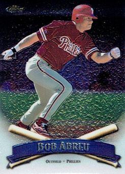 Bobby Abreu's 1998 Topps Finest baseball card