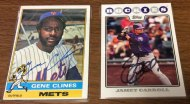 Autograph collection additions: Gene Clines & Jamey Carroll