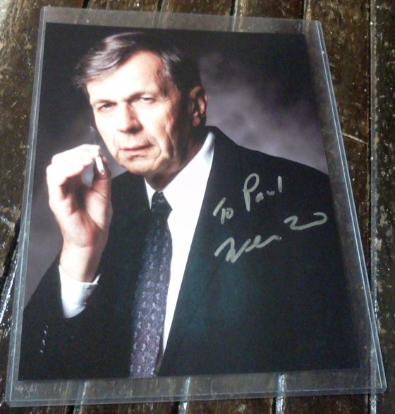 Autographed photo of William B. Davis as the Cigarette Smoking Man, obtained at Chiller Theatre's Halloween show