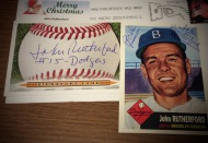 Autograph collection additions: Wilfredo Tovar, Anderson Hernandez, Steve Holm and John Rutherford