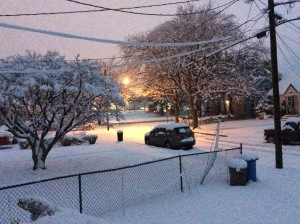 The view from my front door early Saturday morning (Photo credit: Paul Hadsall)