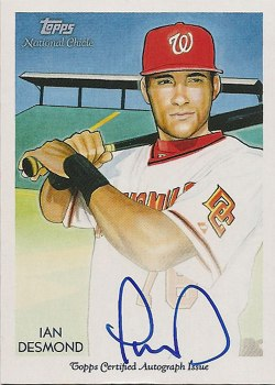 Signed Ian Desmond 2010 Topps National Chicle insert card from my collection