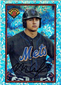 "Michael Conforto's 2014 ""1989 Bowman is Back"" baseball card"