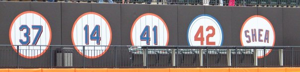 Citi Field's retired uniform numbers (Photo credit: Paul Hadsall)