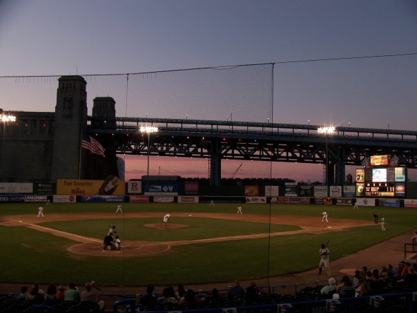 Twilight view at Campbell's Field  (Photo credit: Paul Hadsall)