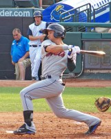 Lee Mazzilli's son, L.J., is a second baseman for the Binghamton Mets (Photo credit: Paul Hadsall)